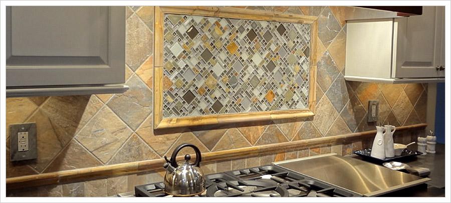 glass slate mosaic kitchen backsplash